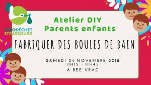 Atelier parents enfants DIY : Boules de bain // COMPLET @ BEE VRAC