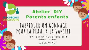 Atelier Parents enfants DIY : Gommage @ BEE VRAC